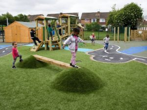 synthetic grass outdoor play spaces