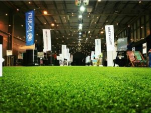 artificial grass event indoors